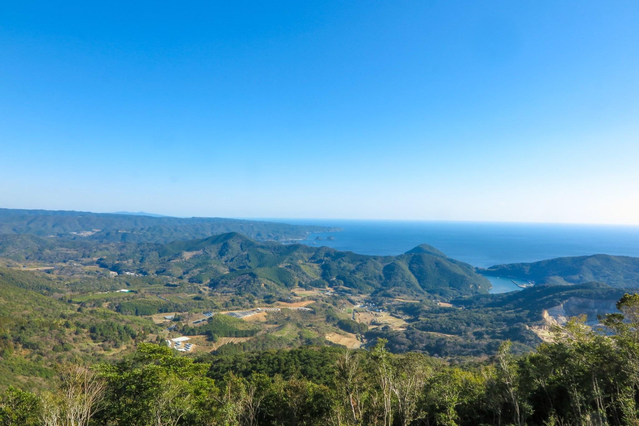 大洞山山頂からの景色
